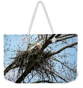 Bald Eagle In The Nest Weekender Tote Bag