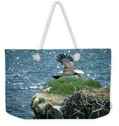 Bald Eagle Leaves Nest Weekender Tote Bag