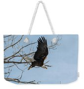 Bald Eagle Makes An Aggressive Dive Weekender Tote Bag