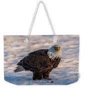 Bald Eagle Over Its Prey Weekender Tote Bag