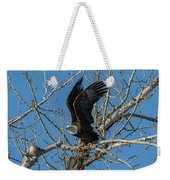 Bald Eagle Pushes Off For Launch Weekender Tote Bag