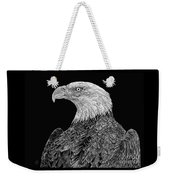 Bald Eagle Scratchboard Weekender Tote Bag