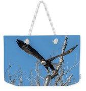 Bald Eagle Shows Its Focus Weekender Tote Bag