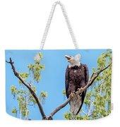 Bald Eagle Warning Weekender Tote Bag