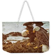 Bald Eagles Family Discussion Weekender Tote Bag