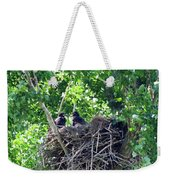 Bald Eaglet's 5 Wks 2 Weekender Tote Bag