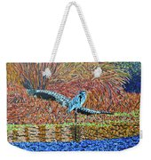 Bald Head Island, Gator, Blue Heron Weekender Tote Bag