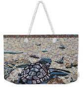 Bald Head Island, Loggerhead Sea Turtle Weekender Tote Bag