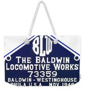 Baldwin Diesel Builders Plate Weekender Tote Bag