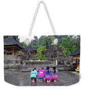 Bali Temple Women Bowing Weekender Tote Bag