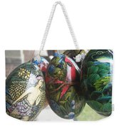 Bali Wooden Eggs Artwork Weekender Tote Bag