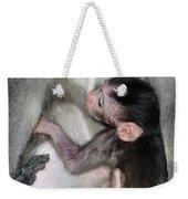 Balinese Baby Monkey Feeding Weekender Tote Bag