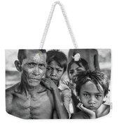 Balinese Gothic Bw Weekender Tote Bag
