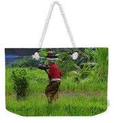 Balinese Lady Carrying Pot Weekender Tote Bag