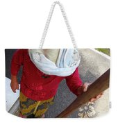 Balinese Lady Grinding Coffee Weekender Tote Bag