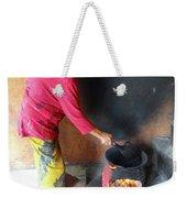 Balinese Lady Roasting Coffee Over The Fire Weekender Tote Bag