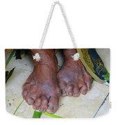Balinese Lady's Feet Weekender Tote Bag