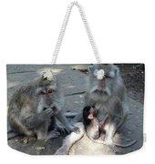 Balinese Monkey Family Weekender Tote Bag