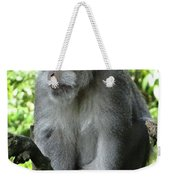 Balinese Monkey In Tree Weekender Tote Bag