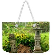 Balinese Rice Field Shrines Weekender Tote Bag