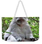 Balinese Serious Monkey Weekender Tote Bag