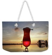 Balinese Sunset With Red Drink Weekender Tote Bag