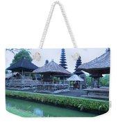 Balinese Temple By The Water Weekender Tote Bag