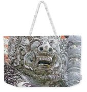 Balinese Temple Guardian Weekender Tote Bag