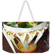 Balinese Traditional Dinner Basket Weekender Tote Bag