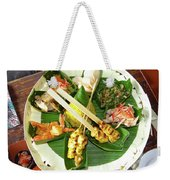 Balinese Traditional Satay Dinner Weekender Tote Bag