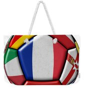 Ball With Flag Of France In The Center Weekender Tote Bag