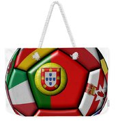 Ball With Flag Of Portugal In The Center Weekender Tote Bag