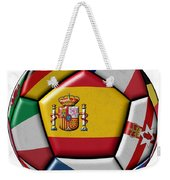 Ball With Flag Of Spain In The Center Weekender Tote Bag