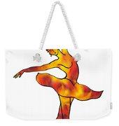 Ballerina Silhouette Dancing Fire Weekender Tote Bag