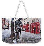 Ballerina Statue And Telephone Boxes Weekender Tote Bag
