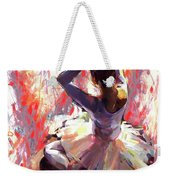Ballet Dancer Siting  Weekender Tote Bag