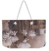 Ballet Rehearsal On The Stage Weekender Tote Bag