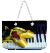 Ballet Shoes On Piano Keys Weekender Tote Bag by Garry Gay