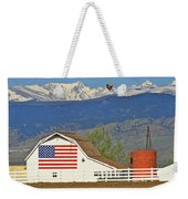 Balloon Barn And Mountains Weekender Tote Bag