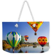 Balloon Reflections Weekender Tote Bag by Mike  Dawson