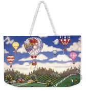 Ballooning Over The Country Weekender Tote Bag