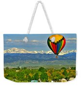 Ballooning Over The Rockies Weekender Tote Bag by Scott Mahon