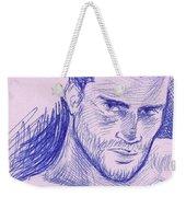 Ballpointpenportrait Weekender Tote Bag