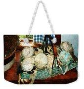 Balls Of Cloth Strips In Basket Weekender Tote Bag