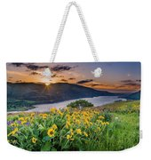 Balsamroot At Sunrise Weekender Tote Bag