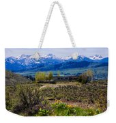 Balsamroot Flowers And North Cascade Mountains Weekender Tote Bag