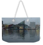Baltimore Harbor Reflection Weekender Tote Bag