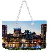 Baltimore Inner Harbor Reflections Weekender Tote Bag