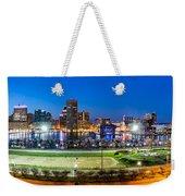 Baltimore Skyline Panorama At Dusk Weekender Tote Bag