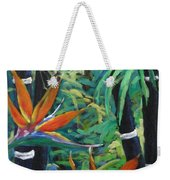 Bamboo And Birds Of Paradise Weekender Tote Bag